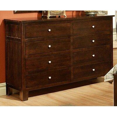 Leora 8 Drawer Standard Dresser Finish: Chocolate