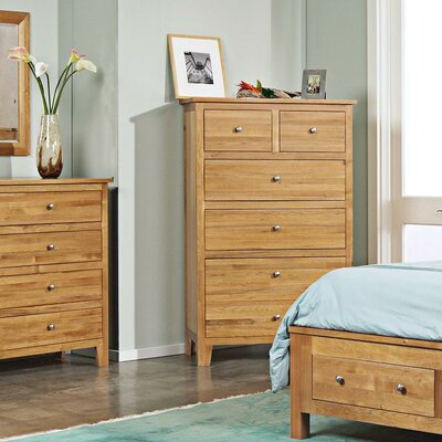 Leora 5 Drawer Chest Finish: Wheat