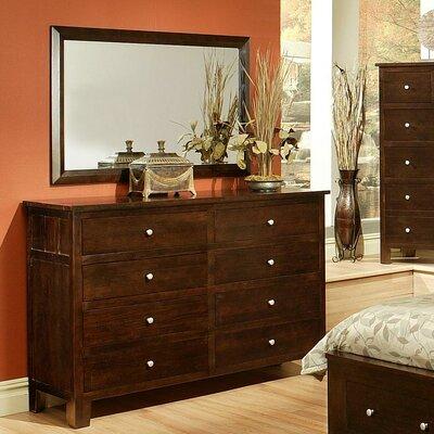 Allie 8 Drawer Dresser with Mirror