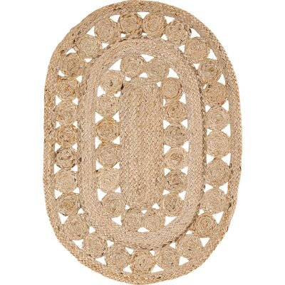 Flanagan Brown Area Rug Rug Size: Oval 18 x 26
