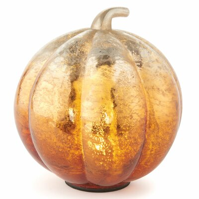 Harvest Glass Pumpkin Led