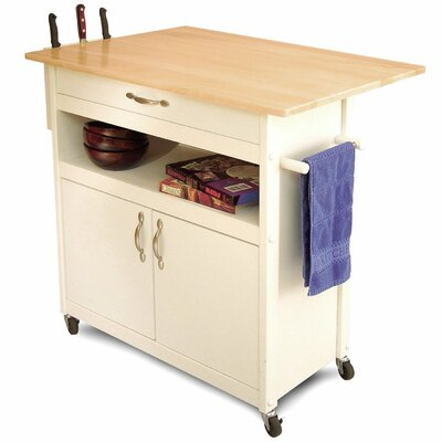 Allie Kitchen Cart with Wood