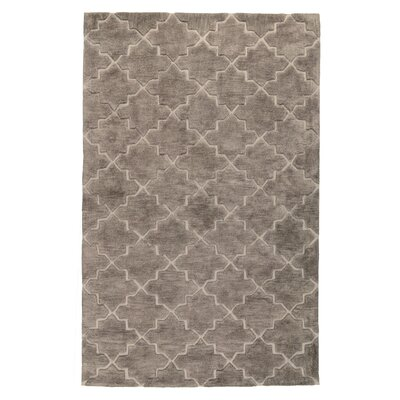 Hatton Hand-Tufted Taupe Area Rug Rug Size: 5 x 8