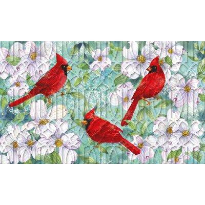 Lheureux Cardinals and Dogwood Embossed Doormat