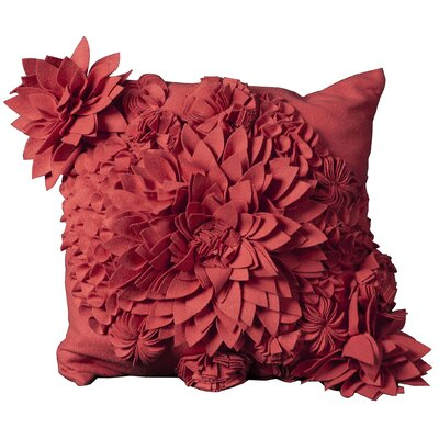 Whitmore Wool Throw Pillow Color: Red