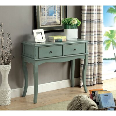 Ledoux Console Table Finish: Antique Teal