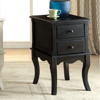 Leroux End Table Color: Antique Black