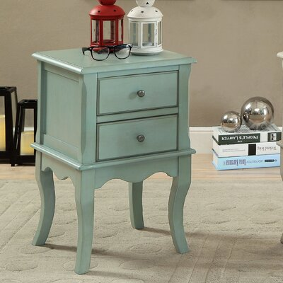 Leroux End Table Color: Antique Teal