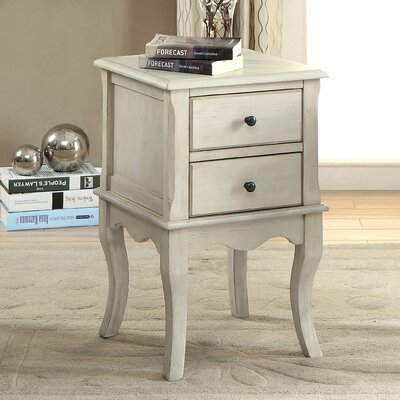 Leroux End Table Color: Antique White