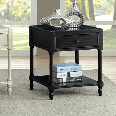 Lesperance End Table Color: Antique Black