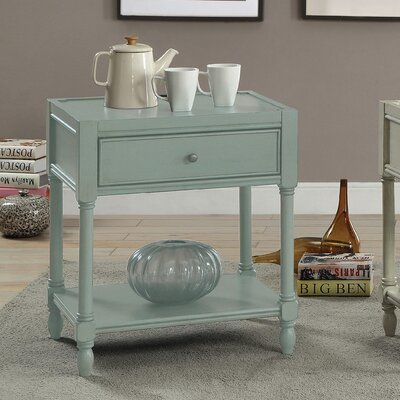 Lesperance End Table Finish: Antique Teal