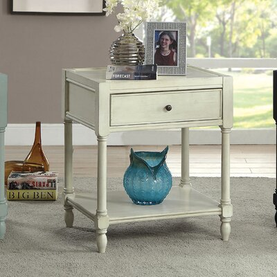 Lesperance End Table Color: Antique White