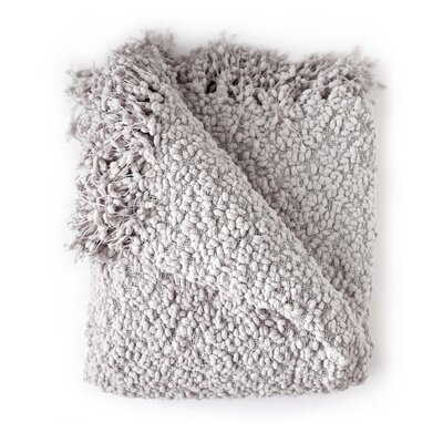 Madison Woven Throw Blanket Color: Smoke