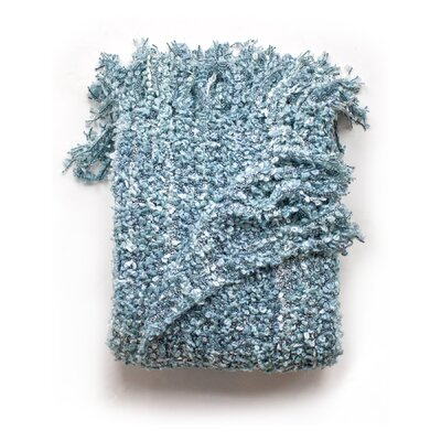 Ashton Woven Throw Blanket Color: Sky