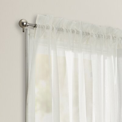 Irenee Adjustable Window Tie-Up Shade Color: Cream