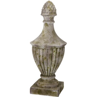 Moss Green/Distressed White Artichoke Magnesia Urn