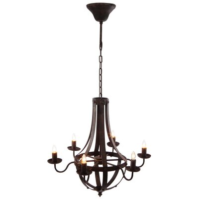 Paquette 6-Light Candle-Style Chandelier