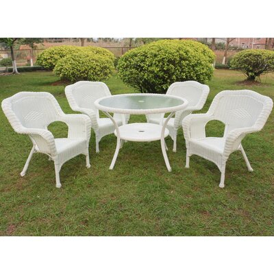 Ovalle 5 Piece Dining Set Finish: White