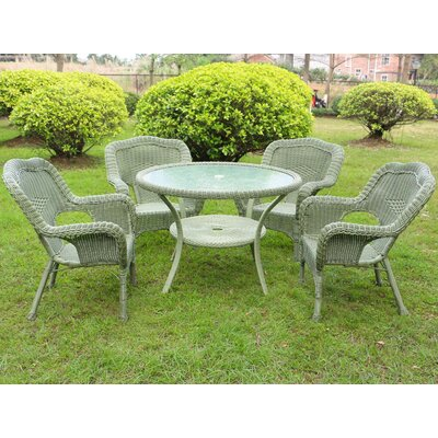 Ovalle 5 Piece Dining Set Finish: Antique Moss