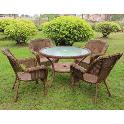 Ovalle 5 Piece Dining Set Finish: Mocha