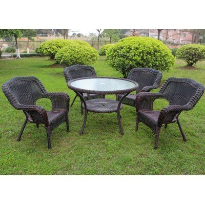 Ovalle 5 Piece Dining Set Finish: Antique Pecan