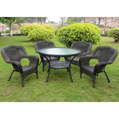 Ovalle 5 Piece Dining Set Finish: Antique Black