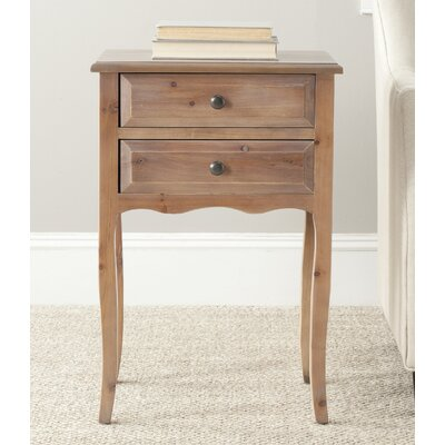 Clare 2 Drawer Nightstand Finish: Red Maple