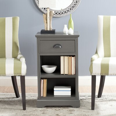 Oreana End Table With Storage Color: Grey