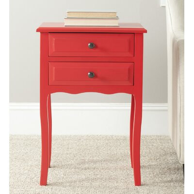 Clare 2 Drawer Nightstand Finish: Hot Red
