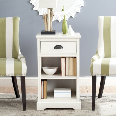 Oreana End Table With Storage Color: White