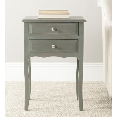 Clare 2 Drawer Nightstand Finish: French Gray