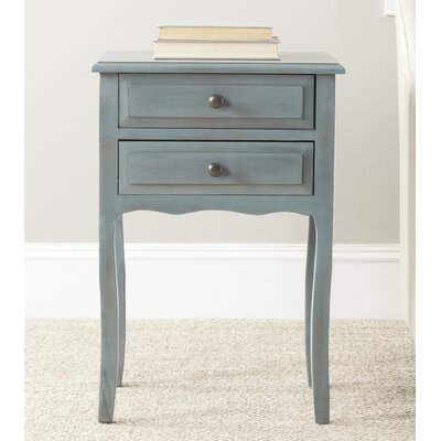 Clare 2 Drawer Nightstand Finish: Barn Blue