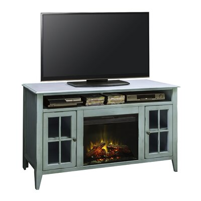 Bess TV Stand with Electric Fireplace Finish: Blue