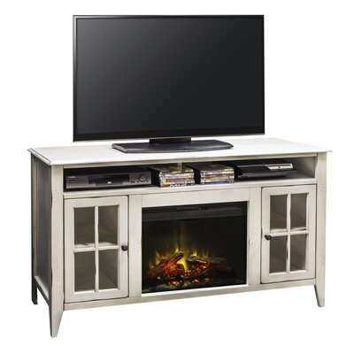 Purington 60 TV Stand with Fireplace Finish: White