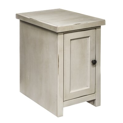 Purington Chairside Table Color: White