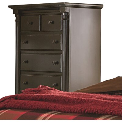 Findlay 6 Drawer Chest Color: Aged Black