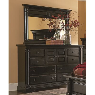 Findlay 8 Drawer Standard Dresser Color: Aged Black