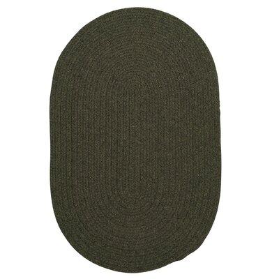Navarrette Olive Area Rug Rug Size: Oval 4 x 6