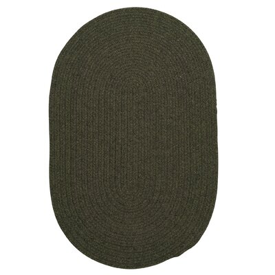 Navarrette Olive Area Rug Rug Size: Oval 2 x 4