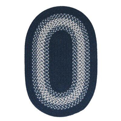 Serafin Navy Area Rug Rug Size: Oval 8 x 11