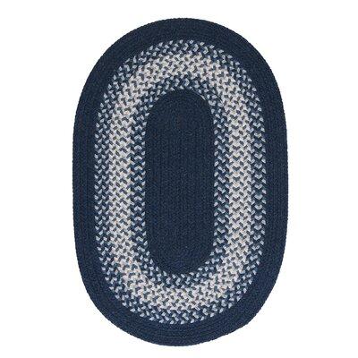 Serafin Navy Area Rug Rug Size: Oval 3 x 5