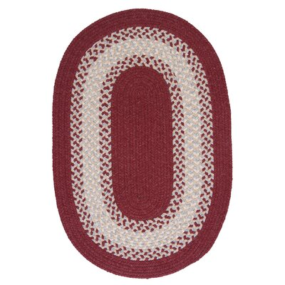 Serafin Berry Area Rug Rug Size: Oval 3 x 5
