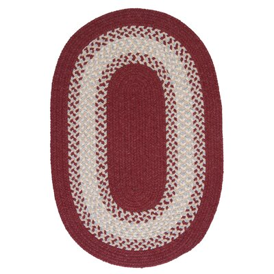 Serafin Berry Area Rug Rug Size: Oval 5 x 8
