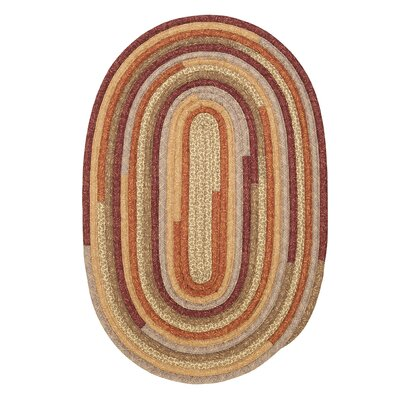 Chapelle Red Area Rug Rug Size: Oval 7 x 9