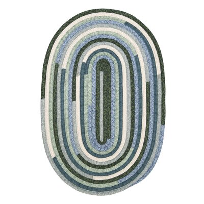 Chapelle Blue Area Rug Rug Size: Oval 2 x 3