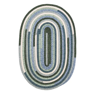 Chapelle Blue Area Rug Rug Size: Oval 8 x 11
