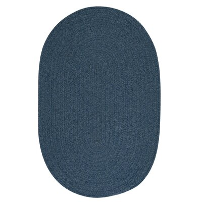 Navarrette Blue Area Rug Rug Size: Round 4