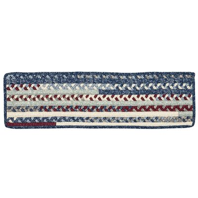 Surette Blue/Gray Stair Tread Rug Size: 24 x 08, Quantity: 1