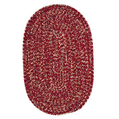 Annet Sangria Indoor/Outdoor Area Rug Rug Size: Oval Runner 2 x 6