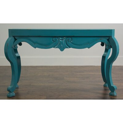 Semmes Console Table Finish: Blue Distressed